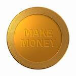 make money gold coin medal